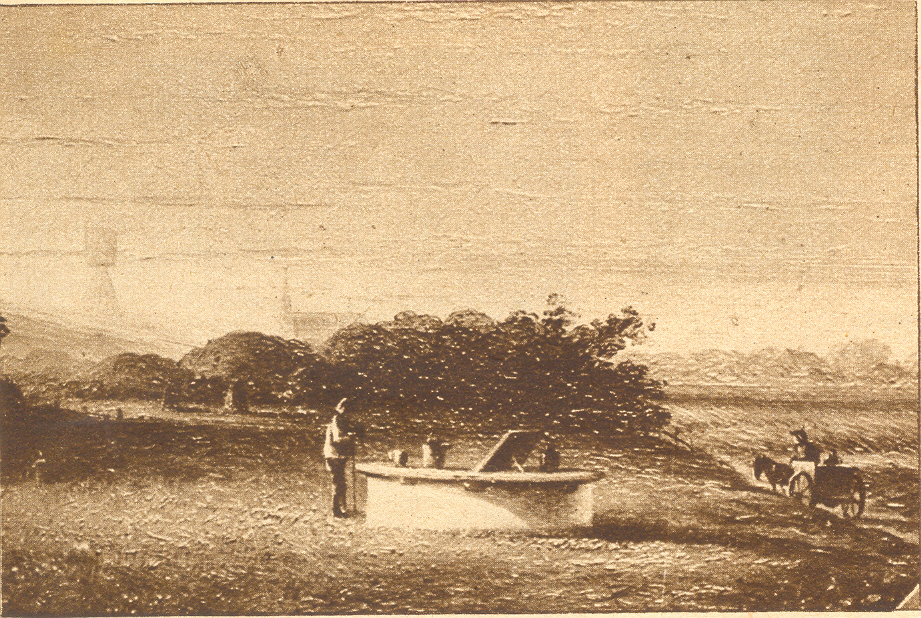 Schilderij van B. G. te. Berge omstreeks 1850.